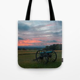 Gettysburg Cannon Sunset Tote Bag