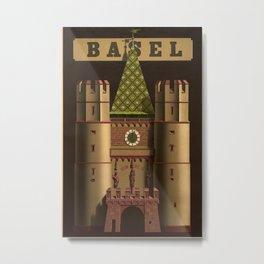 Basel Vintage Travel Poster Metal Print