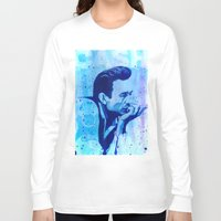 johnny cash Long Sleeve T-shirts featuring Johnny Cash by Jason Hughes