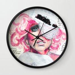 A Paper Mask Wall Clock