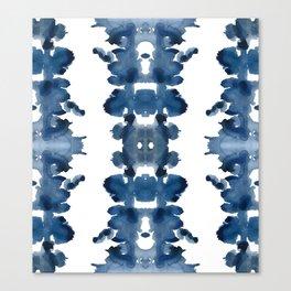 Blue Ink Blots Canvas Print