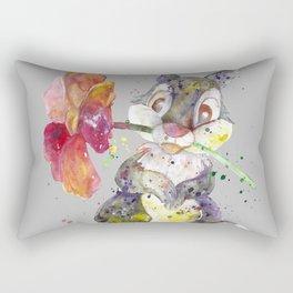 Bunny With flower Rectangular Pillow