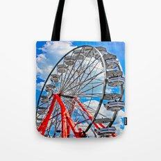 Red, White & Blue Ferris Wheel at the Fair Tote Bag
