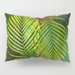 TROPICAL GREENERY LEAVES Pillow Sham