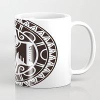 maori Mugs featuring Maori and Polynesian style mix tribal. by TurkeysDesign