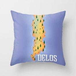 Delos Greece Throw Pillow