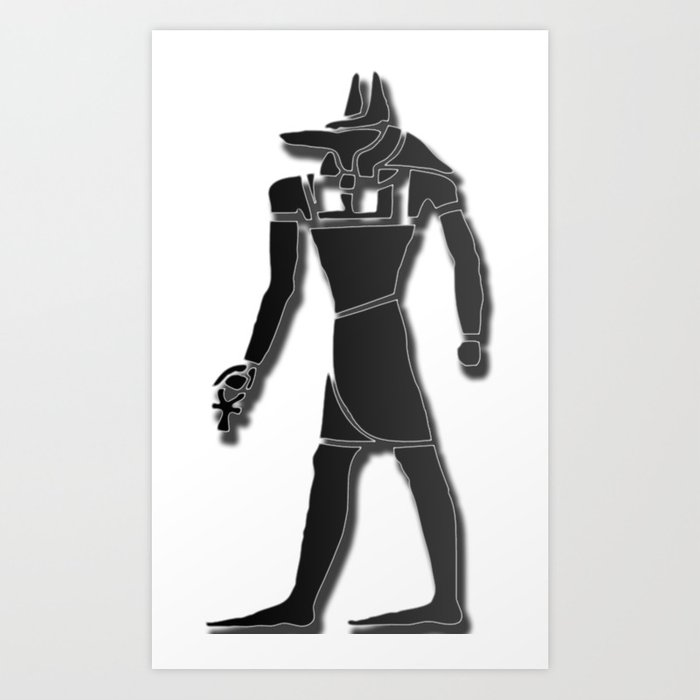 Egyptian Symbol : Anubis Art Print by sinlg