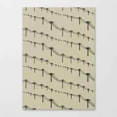 Metal Trees Canvas Print