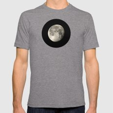 moon glow Mens Fitted Tee Tri-Grey SMALL