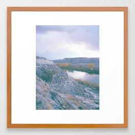 Badlands River, Colour Variant Framed Art Print