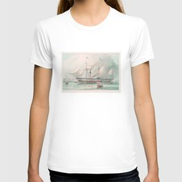 Vintage Illustration of The President's Steamship (1840) T-shirt