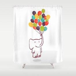 Flying Elephant Shower Curtain