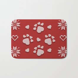 Dog Paws Christmas - Sweater Weather Isle Bath Mat