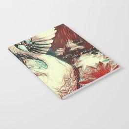 WHITE SWAN BROWNS & GREY  MODERN ART DESIGN Notebook