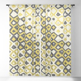 Asymmetry collection: retro shapes and colors Sheer Curtain