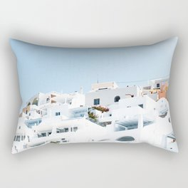 Lost in Santorini Greece Rectangular Pillow
