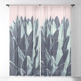 Agave Chic #6 #succulent #decor #art #society6 Sheer Curtain