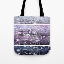 Vincent Van Gogh : Almond Blossoms Panel Art Dark Blue Purple Lavender Tote Bag