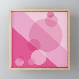 Pink Spheres Abstract Framed Mini Art Print