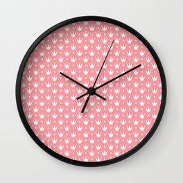 Princess pink with Tiaras. Wall Clock