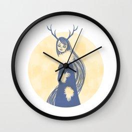 Lady Blue Wall Clock