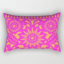 PAPEL PICADO - pink orange Rectangular Pillow