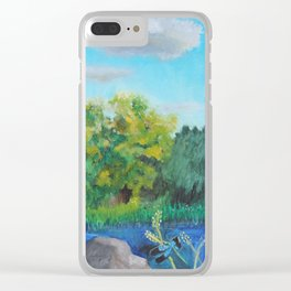 Grandpa's Pond Clear iPhone Case