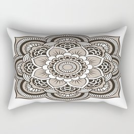 Beige Mandala Rectangular Pillow