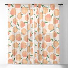Peachy Sheer Curtain