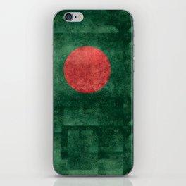 Flag of Bangladesh, Vintage Version iPhone Skin