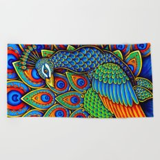 Paisley Peacock Beach Towel
