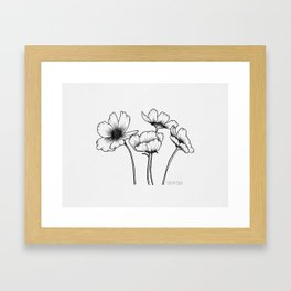 Cosmos flowers Framed Art Print