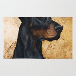 Black and Gold ( Doberman dog ) Rug