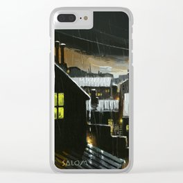 Rainy night in the factories Clear iPhone Case