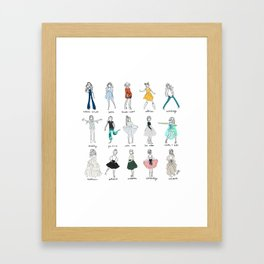 Lili's Sews: Collection 1 Framed Art Print