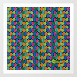 Colored leaves Art Print