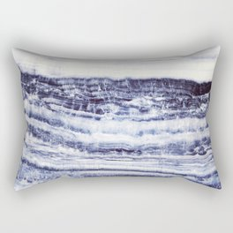 MARBLE ABSTRACT ECLIPSE BLUE Rectangular Pillow