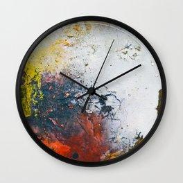 Fall, fall colored abstract, NYC artist Wall Clock