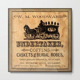 The Undertaker Metal Print