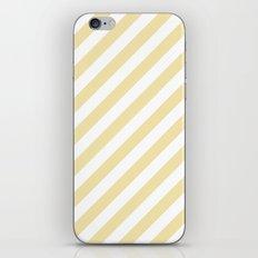 Diagonal Stripes (Vanilla/White) iPhone & iPod Skin