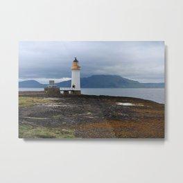 Rubha nan gall Lighthouse, Isle of Mull, Scotland Metal Print