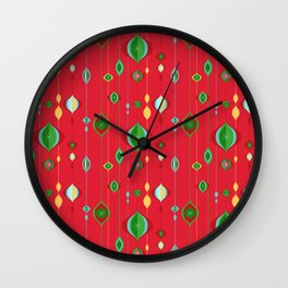 Retro Christmas Wall Clock