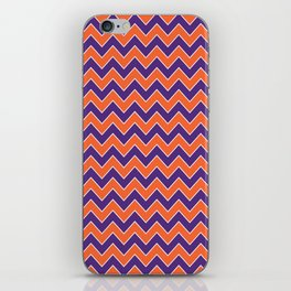 Orange and purple clemson chevron stripes university college alumni football fan gifts iPhone Skin