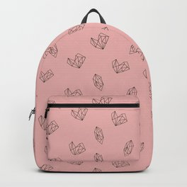 Pattern design with geometric shapes of gem stones and hearts Backpack
