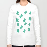 cacti Long Sleeve T-shirts featuring Cacti by Hello Lidy