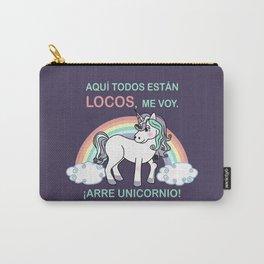 Cute unicorn Arre unicornio Carry-All Pouch