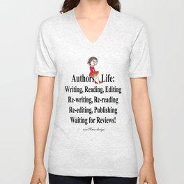 Authors Life by Lisy Unisex V-Neck