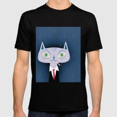 One Cool Cat Black LARGE Mens Fitted Tee