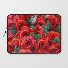 Red Roses In Bloom Laptop Sleeve