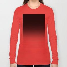 Black & White Ombre Gradient Long Sleeve T-shirt